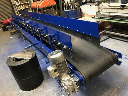 600mm wide x 3.5 meters long conveyor modular belt conveyor 3 phase or hydraulic drive with stands