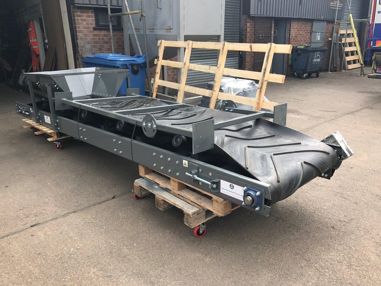 Stockpile Conveyor 1000mm X 6m Long Conveyor Belt 3 Phase