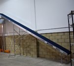 Mezzanine floor conveyor 8700mm long x 600mm wide belt /  The Conveyor Shop