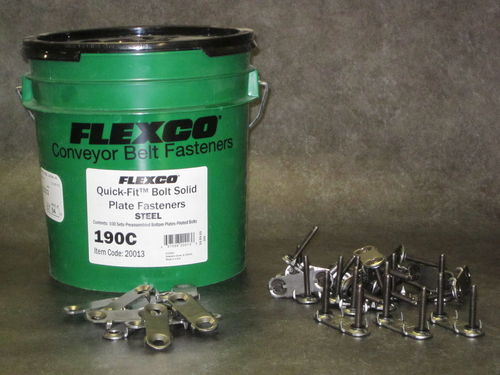 FLEXCO 190c bolt Solid Plate Fasteners bucket of 100x full sets