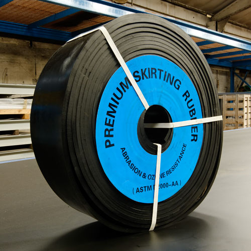 Conveyor Belting Skirt Rubber pure rubber For sale Online 20 meters x 200mm wide 10mm thick