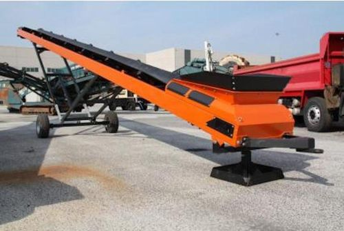 Stockpiling conveyor 800mm x 15m (50ft) long conveyor belt electric or hydraulic drive