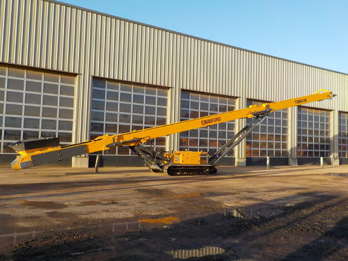 Tracked Conveyor 80ft long x 900mm wide belt